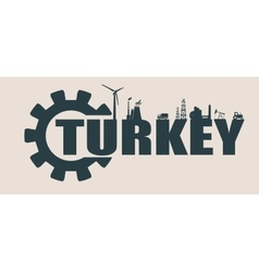 Energy and power icons turkey word vector