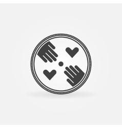 Flat hand made symbol vector image vector image