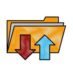 Folder document symbol vector