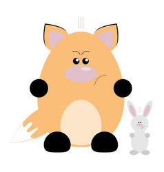 fox and rabbit angry vector image vector image