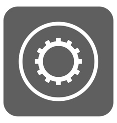 Gear flat squared icon vector