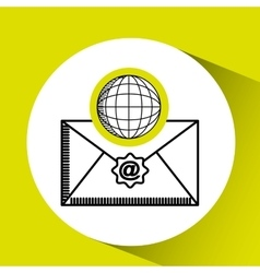 Global email concept world message vector