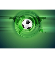 Green football abstract background with world map vector