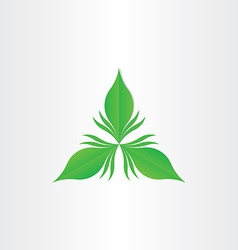 green leaf abstract symbol vector image vector image