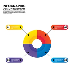 Infographic business report template layout vector image