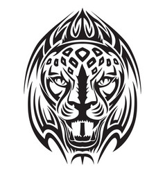 lion head tattoo vintage engraving vector image vector image