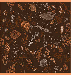 Lovely autumn seamless pattern with leaves can vector