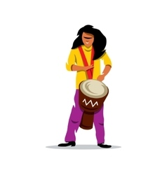 Man playing the drum brazilian music vector