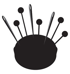 Pincushion silhouette vector image