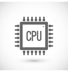 Processor chip icon vector image