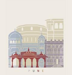 Pune skyline poster vector