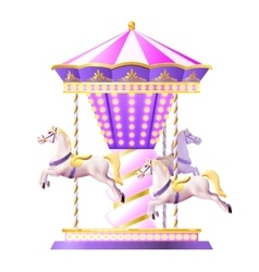 Retro carousel vector