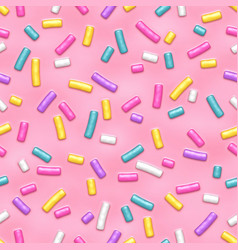 Seamless pattern with many decorative sprinkles vector