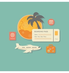 style modern concept of planning a summer vacation vector image