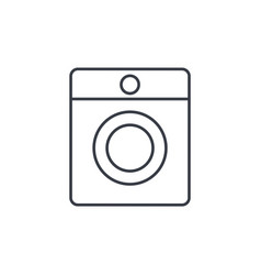 Washing machine thin line icon linear vector