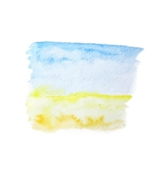 Watercolor summer background with blue sky vector
