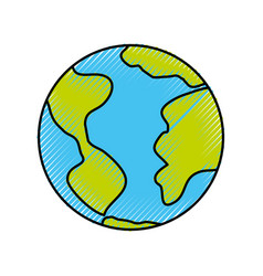 world planet isolated icon vector image vector image