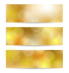 Yellow banner set vector image vector image
