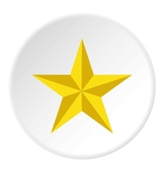 Yellow star icon flat style vector