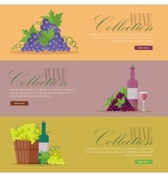 Set of fliers for elite wine collections vector