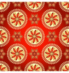 Floral dark red seamless pattern vector