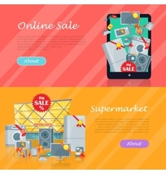 Sale in Electronics Store Web Banners vector image
