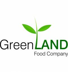 green land logo vector image