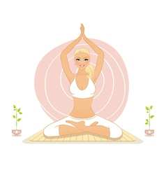 Yoga lotos vector