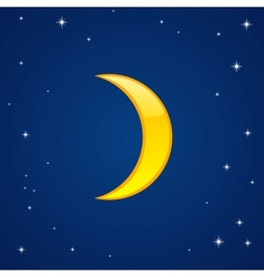 Cartoon glossy moon vector