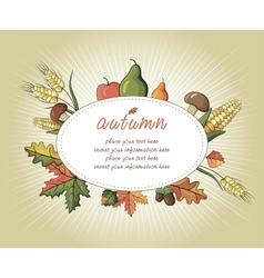 Happy thanksgiving day celebration flyer vector