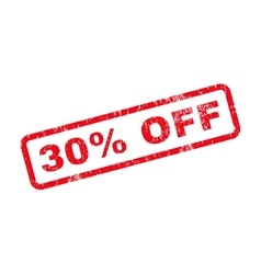 30 Percent Off Text Rubber Stamp vector image vector image