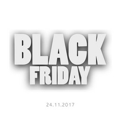 3d letters black friday for your design vector