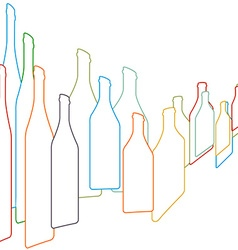 Background with bottles vector