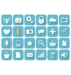 Icons set retro vector
