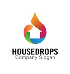 House Drops Design vector image