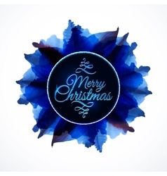 Floral composition background lettering merry vector