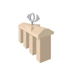 Brandenburg gate icon cartoon style vector
