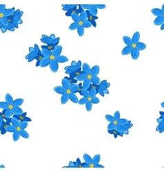 Seamless forget-me-not pattern vector