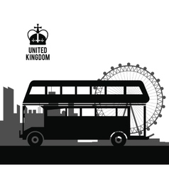 Bus icon united kingdom design graphic vector