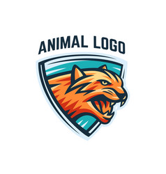 animal logo on a white background vector image vector image