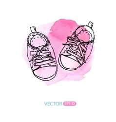 baby sneakers vector image