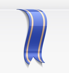 Blue bookmark decoration ribbon vector image vector image