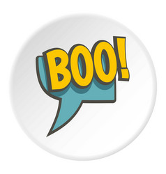 Boo speech bubble icon circle vector