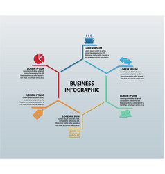 Business infographic featuring six icons vector