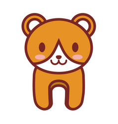 Cartoon bear animal image vector