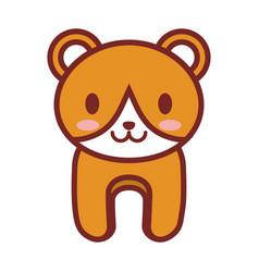 cartoon bear animal image vector image vector image