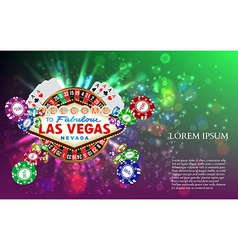 Casino Roulette Playing Cards witn Falling Chips vector image vector image