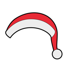 christmas hat icon vector image