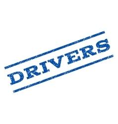 Drivers watermark stamp vector