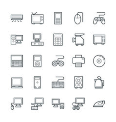 Electronic cool icons 1 vector